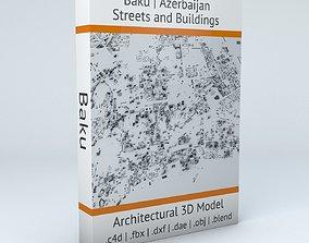 3D model Baku Streets and Buildings