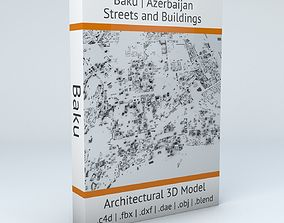 3D model Baku Streets and Buildings