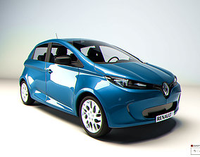 Zoe Renault electric car 3D
