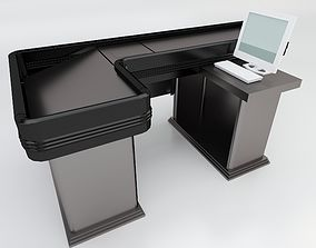 Market Checkout Counter 3D model