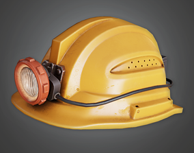 Miners Helmet - HAT - PBR Game Ready 3D asset