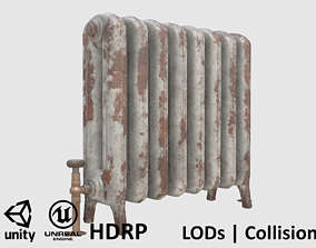 Game-ready rusty radiator - Unity - HDRP - UE4 3D asset