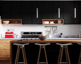3D Minimal Kitchen design