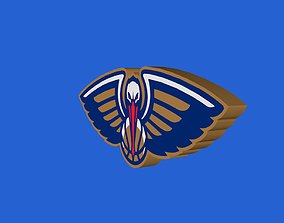 3D New Orleans Pelicans Team Logo