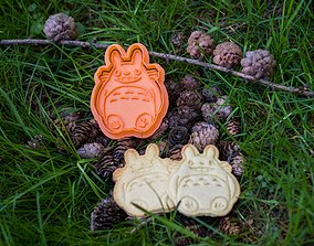 3D printable model Totoro smile and chibi cookie cutters