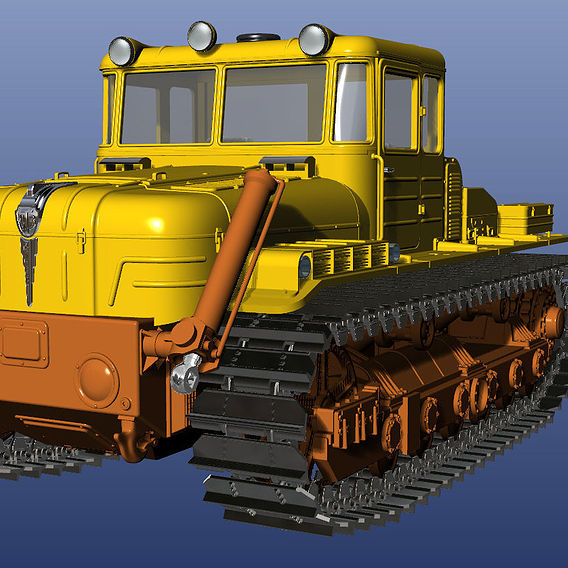 Scale model 1:43. Soviet tractor DET-250