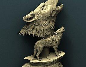 panno Wolfs 3d stl model for cnc