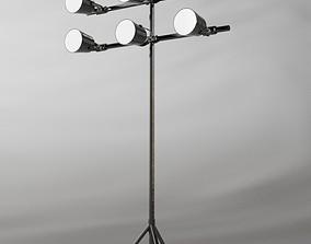3D Industrial light stand Hangar lights