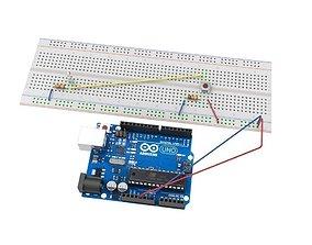 Arduino breadboard 3D model