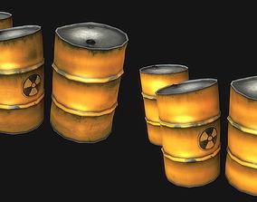 3D asset Metal Barrels Collection