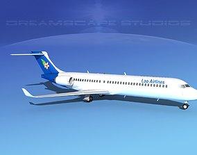 3D model Comac ARJ21-700 Lao Airlines