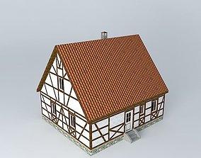 Half Timbered Cottage 3D model