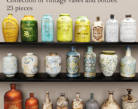 3D Collection vases and bottles