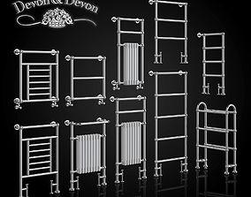 A set of heated towel rails Devon 3D model