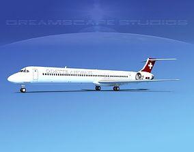 3D model McDonnell Douglas MD83 Odette Airways