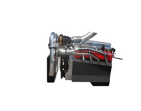 V8 engine mid-low-poly 3D