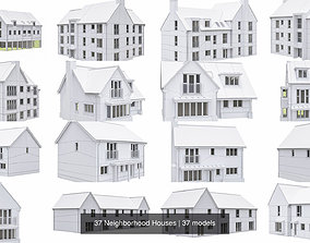 3D 37 Neighborhood Houses