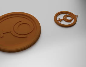 Glass Coaster Hades and Pendant 3D print model