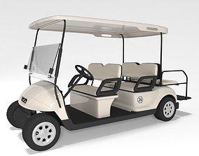3D Large Golf Cart