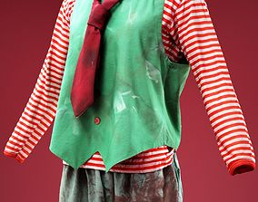 3D asset Clown with Tie Horror Costume
