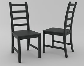 3D Black woodenchair KAUSTBY