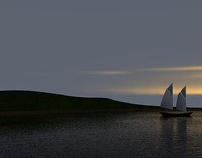 3D model Sailboat sailboat