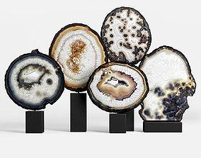 amethyst agate decor set 03 3D