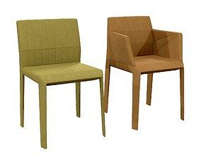 3D asset Ligne Roset - Facett Dining Armchair and Chair
