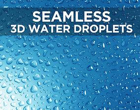 Liquid droplets bundle - Seamless patch of 3D model 1