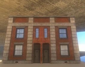 3D model rigged Old City Building 1
