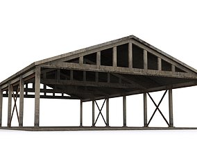 Hangar industrial-building 3D model