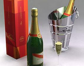 3D model Champagne set