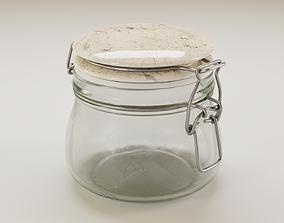3D glass Mason jar