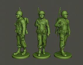 3D print model American soldier ww2 walk A3