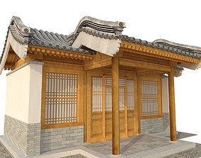 3D Ancient Chinese Architecture Distribution game-ready 2