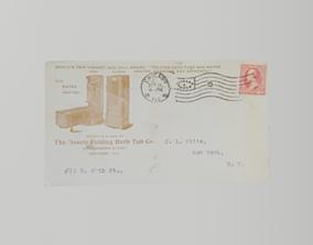 3D model Mosley Folding Bathtub 1899 advertising