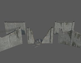 3D asset Military Concrete Wall Pack
