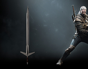 The witcher silver sword 3D model