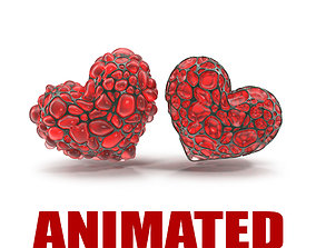 3D animated Abstract Heart