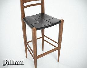 Billiani Vincent VG stool 444 teak 3D model
