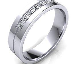sterling ring Diamond Ring 3d Model print