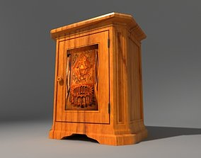 3D model Inlaid french console