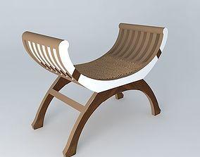 3D Rattan stool Kipling
