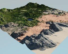 Map003 - Biomes - The garden in Blender 3D model