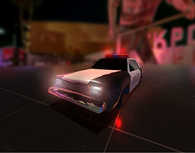 Police Car Low-poly 3D asset