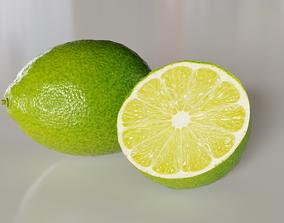 Citrus lemon fruit with pbr textures 3D model