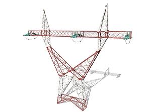 3D model Electricity Pole 3