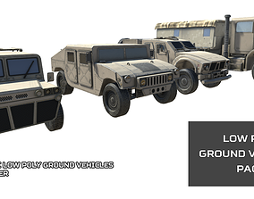 Low Poly Ground Vehicles Pack 3D asset realtime