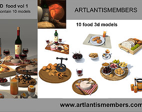 3D model food collection