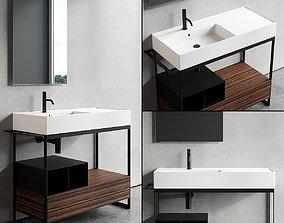 Scarabeo Ceramiche Solid Vanity Unit Set 3 3D asset